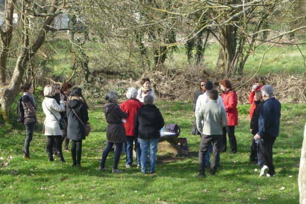 Travail avec la nature au site de menhirs d'Erveden, Bretagne, 2015