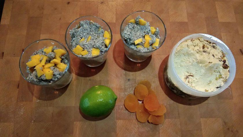 Pouding au chia, halva, mangue et cardamone 1